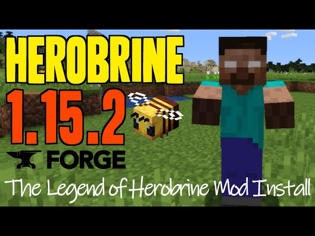 HEROBRINE MOD 1 15 2 minecraft how to download install The