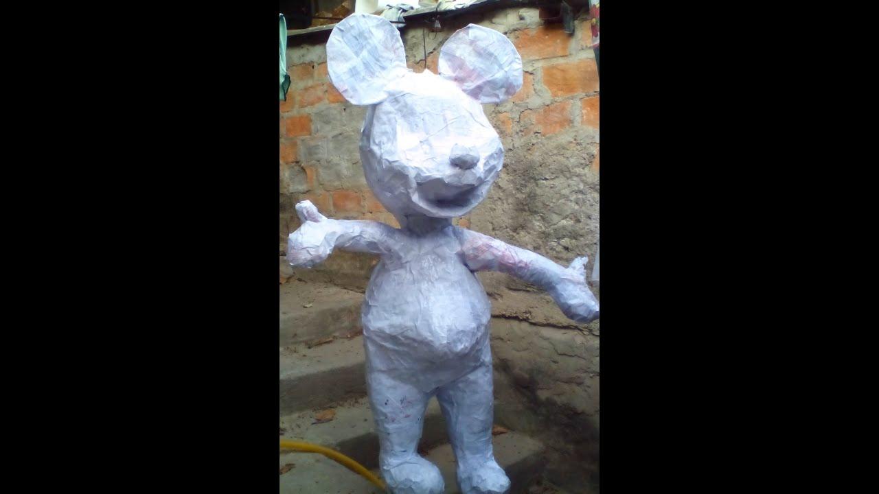 como hacer una piñata de alambrede MICKEY MOUSE 2 parte - YouTube