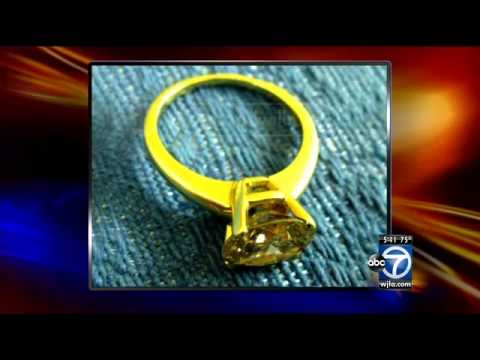 Large diamond ring donated anonymously to Goodwill's Annandale store