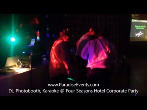 Karaoke Rentals Vancouver - Paradise Events @ Four Seasons Hotel Vancouver Christmas Party