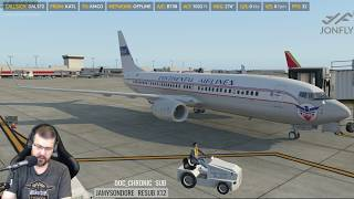 X-Plane 11 - Zibo 737 3.23T with RG Mod Part 1 of 4