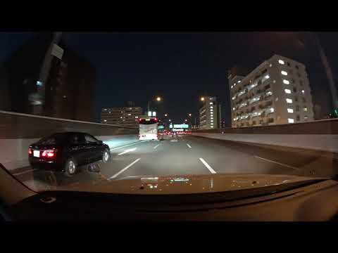 Nagoya night drive 4K 名古屋城 名古屋高速 2018