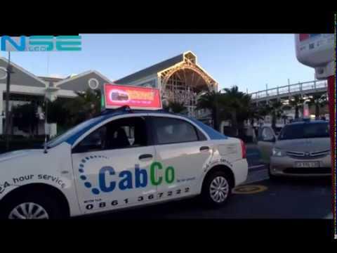 Taxi top led screen run advertisement in street