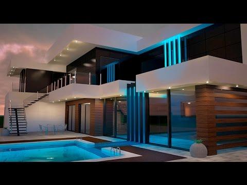 Дизайн проект жилого дома (3DS Max)