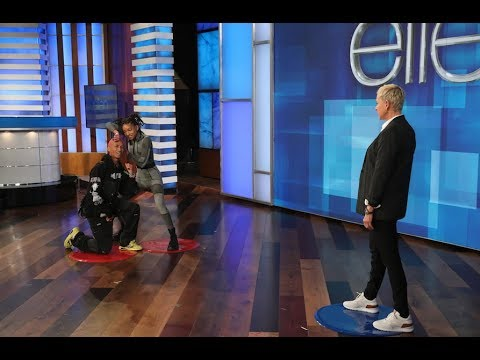 Jaden and Willow Smith Play 'Heads Up' with Ellen