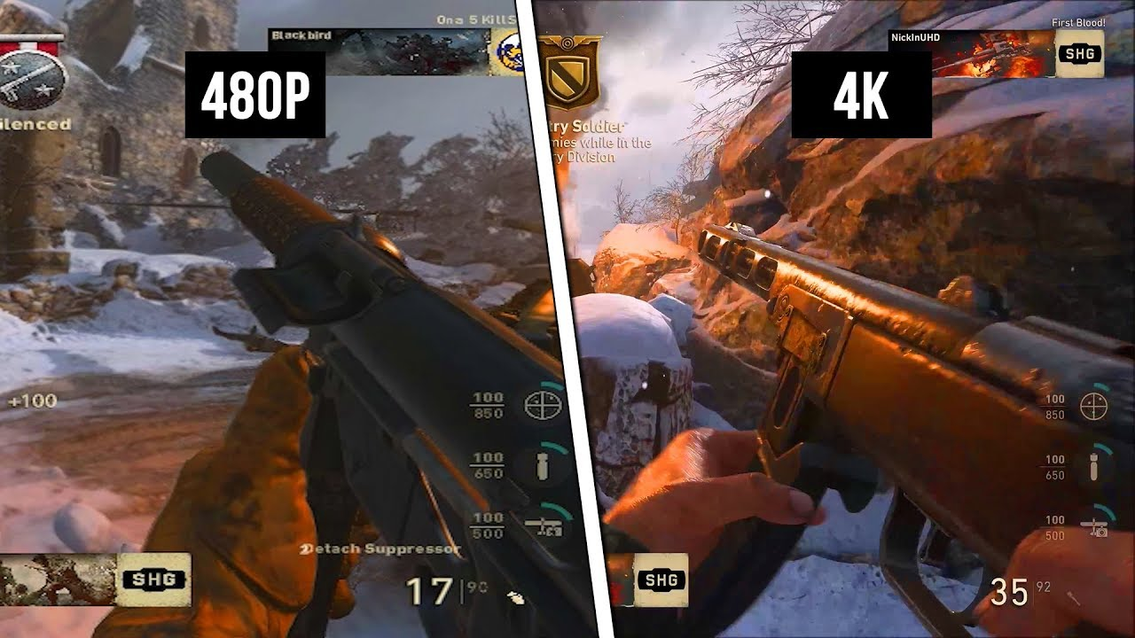 The best vs the absolute worst settings 4k vs 480p - Is cod ww2 4k ...