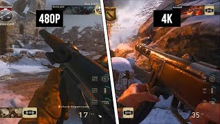 The BEST Vs The ABSOLUTE WORST Settings (4k vs 480p Graphical Comparison in COD WW2)