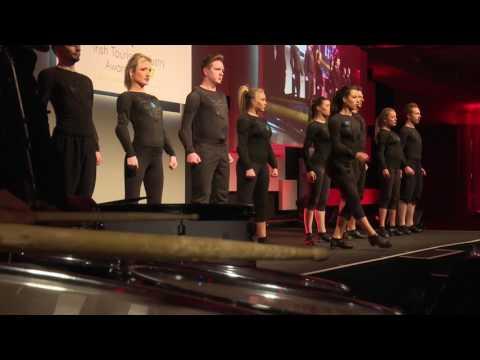 Slide Step Irish Dancers [With LED Drummers]