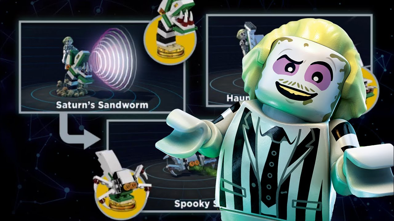 Lego Dimensions Beetlejuice Alternate Builds Saturn S Sandworm Beetlejuice Fun Pack Youtube