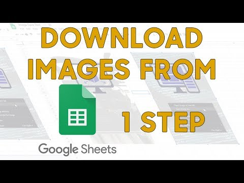 1 Step To Download Images From Google Sheets