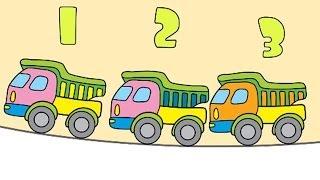 Çizgi film - Kamyonları sayıyoruz (Okul öncesi eğitim çizgi filmleri)