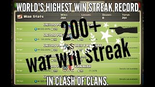 Clash Of Clans Highest War Win Streak Record | Never Loose a Clan War | COC