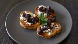 Figs Wine And Goat Cheese