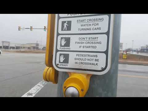 My Crosswalk Button Experience With A Polara Bulldog And Econolite Button At Parkwood Blvd, FW, TX
