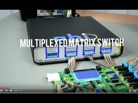 Multiplexed Matrix Switch For ABI's System 8 PCB Test Equipment From Saelig