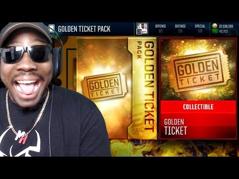 SEARCHING FOR GOLDEN TICKET IN PACK OPENING! Madden Mobile 18 Gameplay Ep. 55