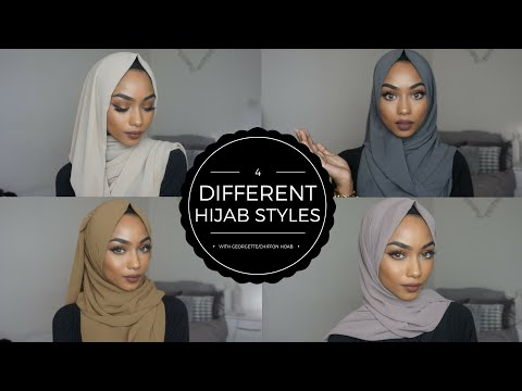 SIMPLE HIJAB STYLES | WITH GEORGETTE/CHIFFON HIJABS