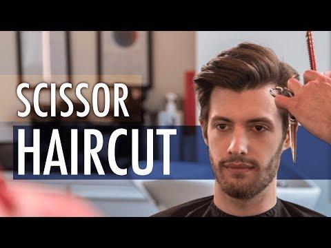 Scissors Haircut - Medium Length Hairstyle