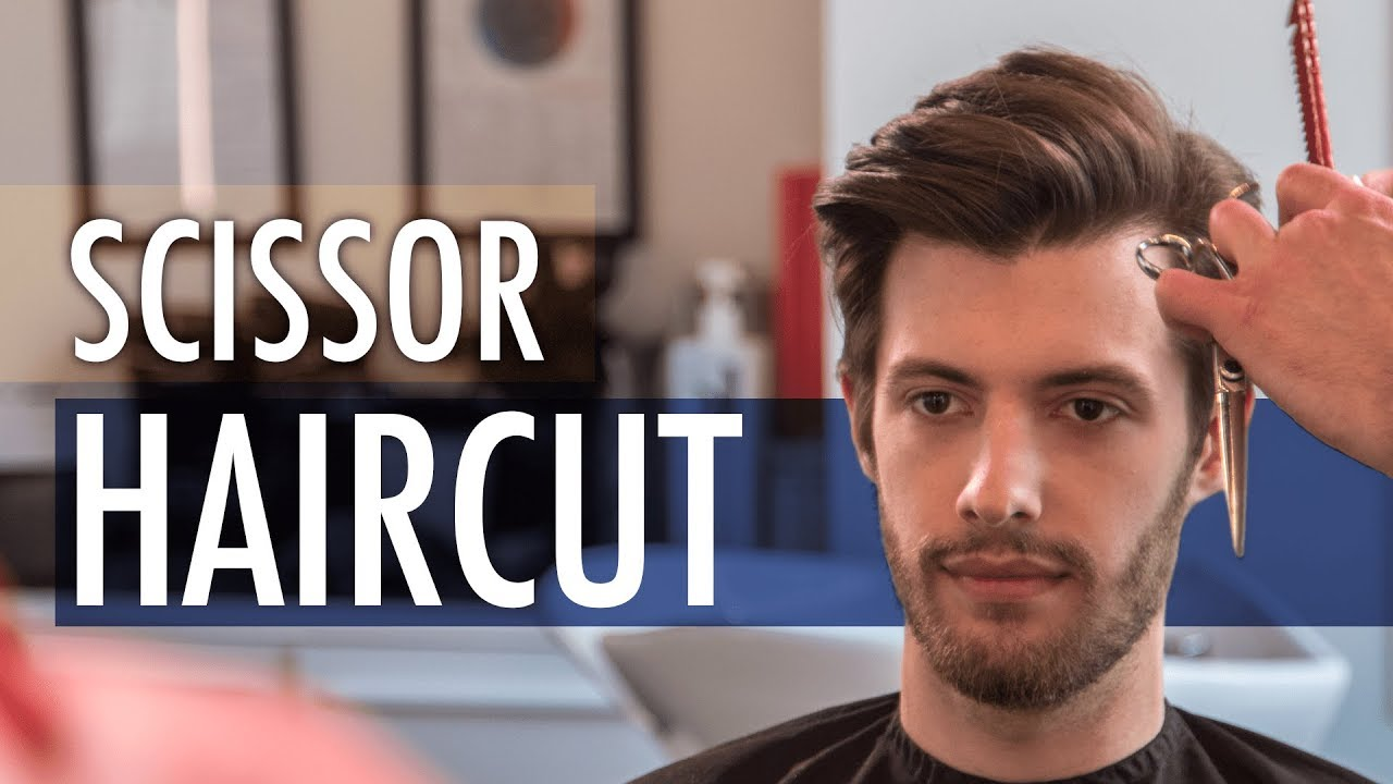 Scissors Haircut - Medium Length Hairstyle