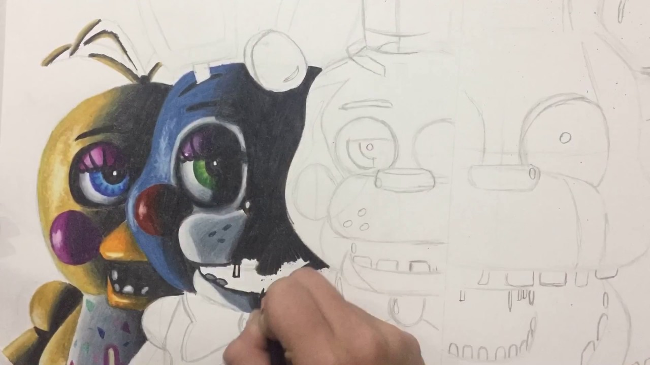 Fnaf 2 Drawings drawing fnaf 2 teaser (repost)