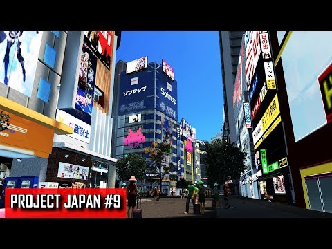 Cities: Skylines - PROJECT JAPAN #9 - Entertainment, anime/manga culture & nightlife pedestrian zone