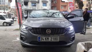Fiat egea kısa H7 led xenon  uygulama ve sonrası