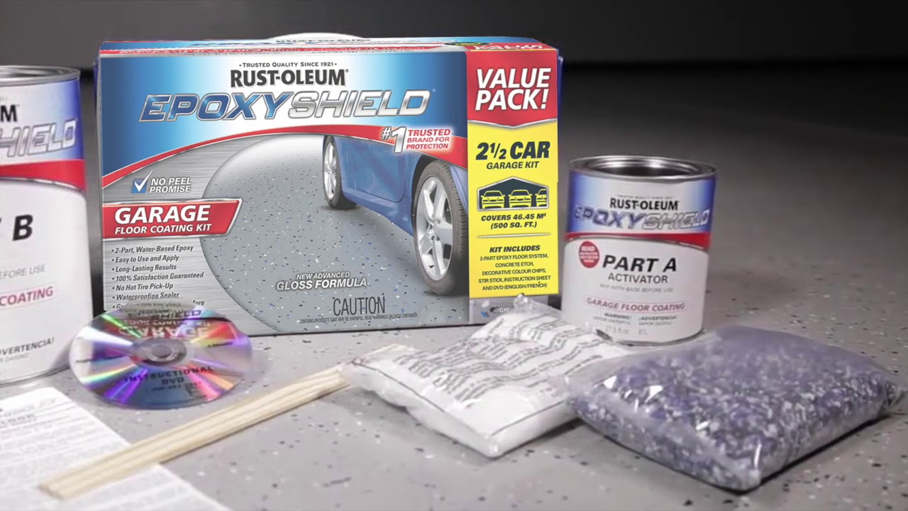 How To Use Rust Oleum Epoxyshield Garage Floor Coating Kit To Transform Your Floor Youtube