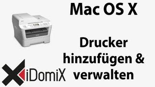 Mac Basics Drucker hinzufügen installieren konfigurieren entfernen Drucksystem zurücksetzen
