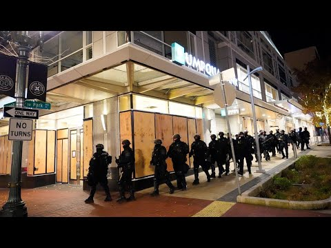 There are still riots in Portland and Seattle 'even with Biden winning'