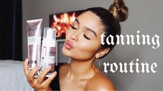 MY TANNING ROUTINE + NATURAL MAKEUP LOOK ft LOVING TAN