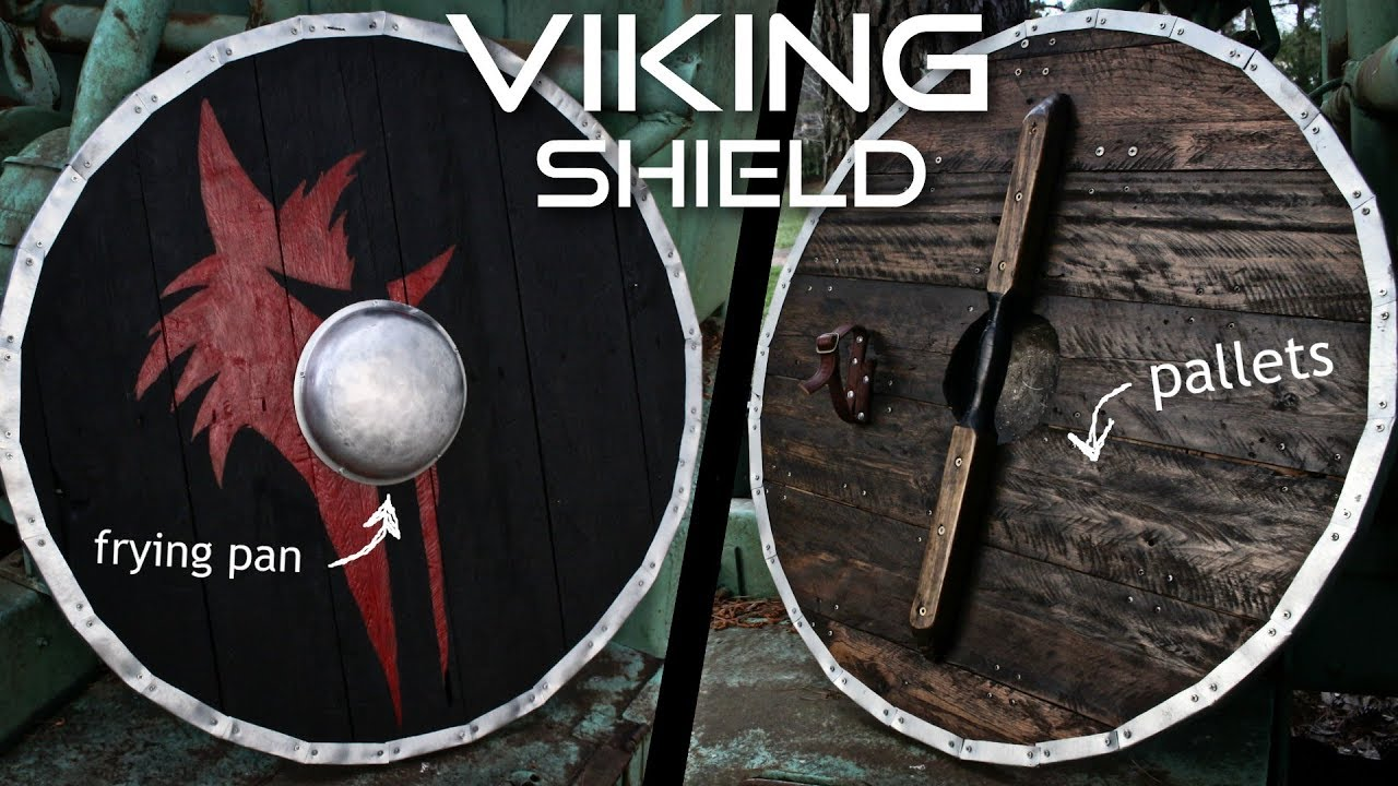 Homemade Viking Shield Completely From Scrap With Frying Pan Shield Boss Youtube