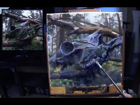 Painting Lesson In Real Time Step By Step  - King Of The Forest II