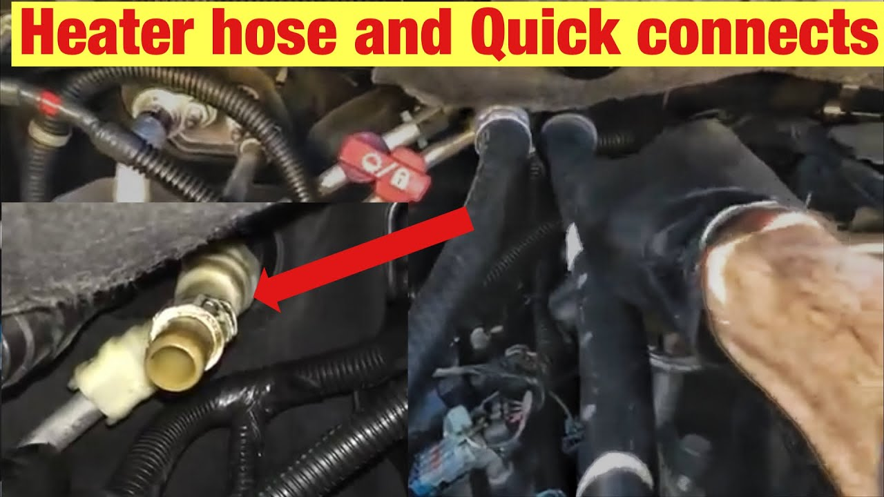 medium resolution of how to replace the heater hoses an adapters on a 2000 2007 gmc yukon chevy suburban