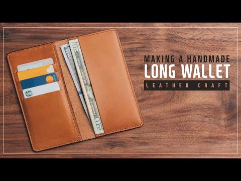 Making leather long wallet  / 가죽 장지갑 / Leather craft PDF / 가죽공예 패턴