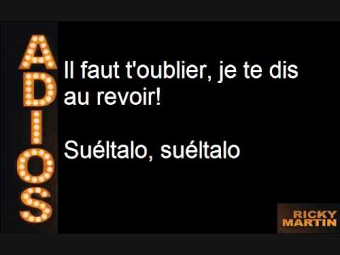 Ricky Martin - Adios (English-French) (With Lyrics)
