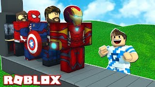 AVENGERS SUPER HEROES FACTORY IN ROBLOX!! (Tycoon Super Eroe)