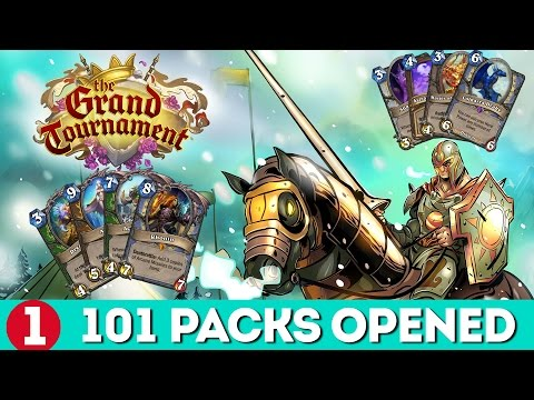 Hearthstone Grand Tournament - 101 Packs Opened!