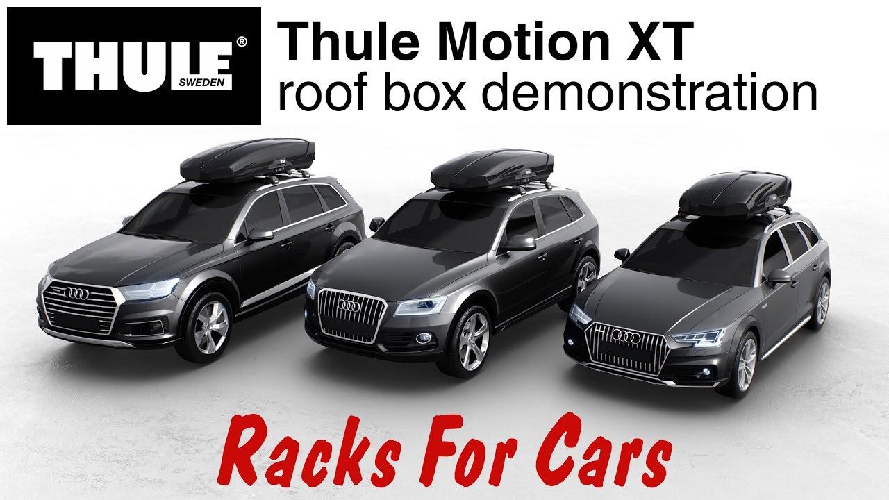 Thule 6298b Motion Xt Xl 18 Cu Ft Ski And Cargo Box Black Glossy Racks For Cars