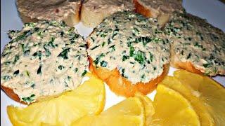 Закуска из селедки на хлеб.Бутербродное масло из селедки
