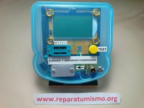 MONTAJE EN CAJA DEL COMPROBADOR MULTICOMPONENTES ESR Meter 12864 LCD