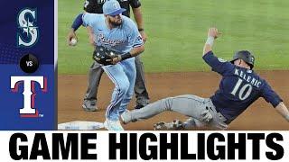 Mariners vs. Rangers Game Highlights (8/1/21)