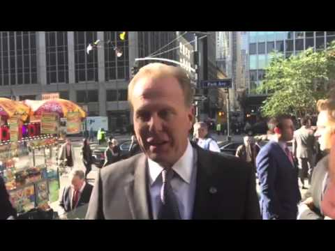 San Diego Mayor Kevin Faulconer Talks At NFL HQ