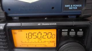 icom ic 718 testes e demonstrao de recepo por py5mm