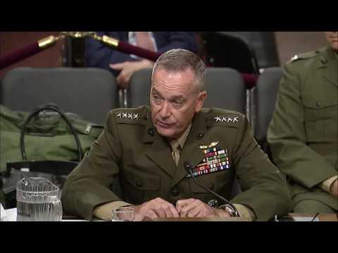Sen Blumenthal Speaks with Defense Sec Carter & Chairman of Joint Chiefs Gen Dunford, Jr