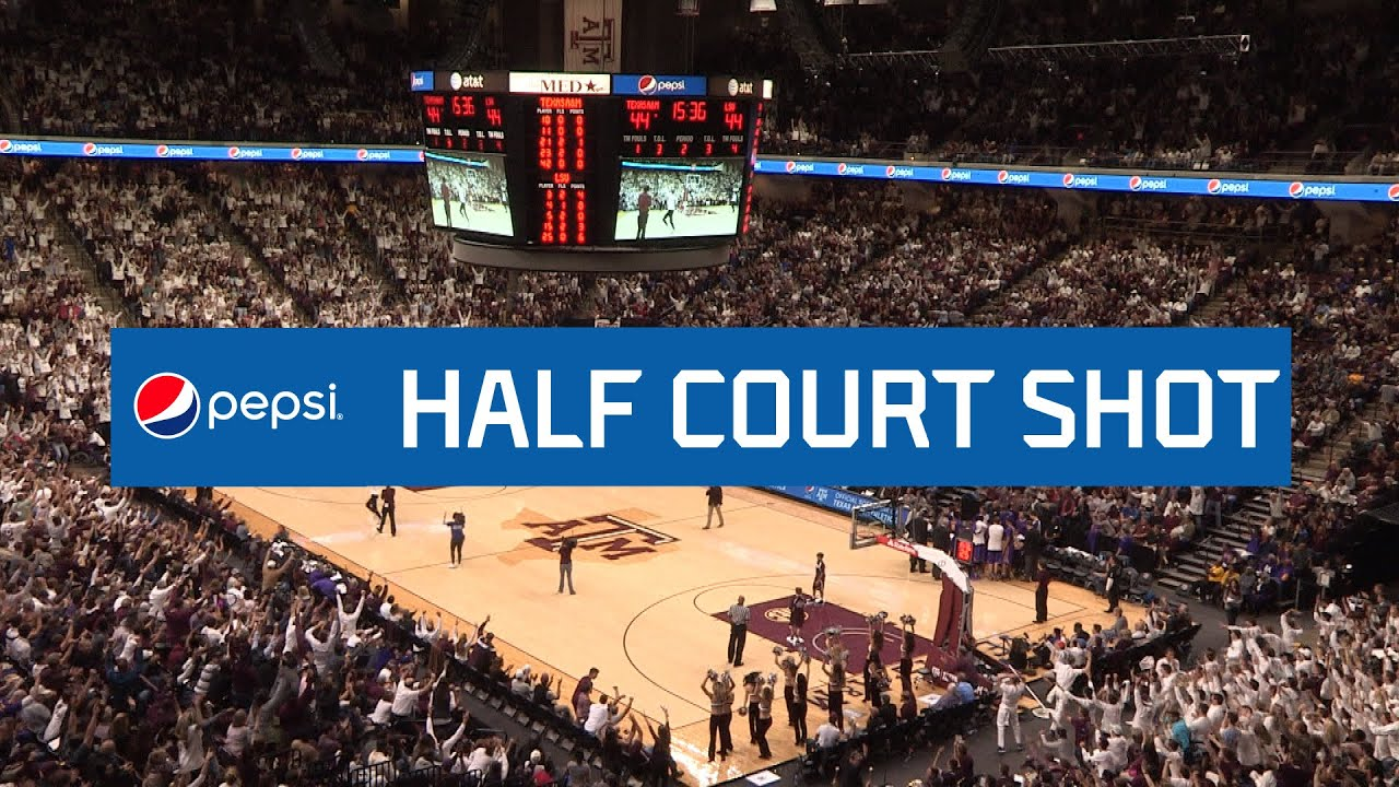 Men's Basketball | Pepsi Half Court Shot - YouTube