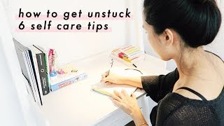 🌸 Self Care Tips When Feeling Stuck, Down, and Uninspired