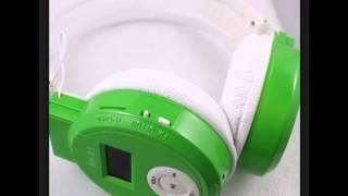 hkbayi Sport MP3 Earphone Music Player LCD Mirco SD Card Slot Headphone Foldable Wireless FM Radio H