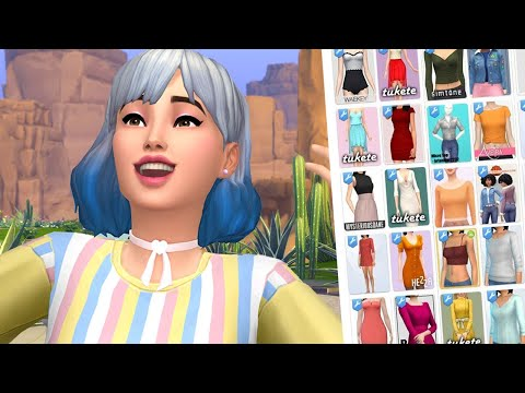 MASSIVE CC HAUL! (200 Items) The Sims 4: Custom Content Shopping