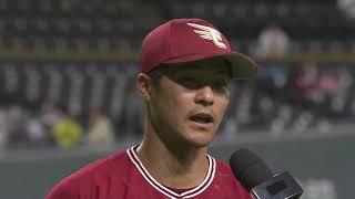 イーグルス・茂木選手のヒーローインタビュー動画。 2019/05/22 北海道...