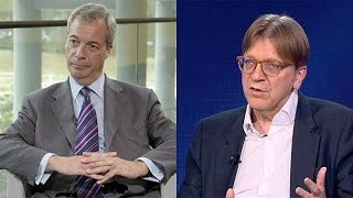 Farage and Verhfofstadt: two sides of the Brexit divide